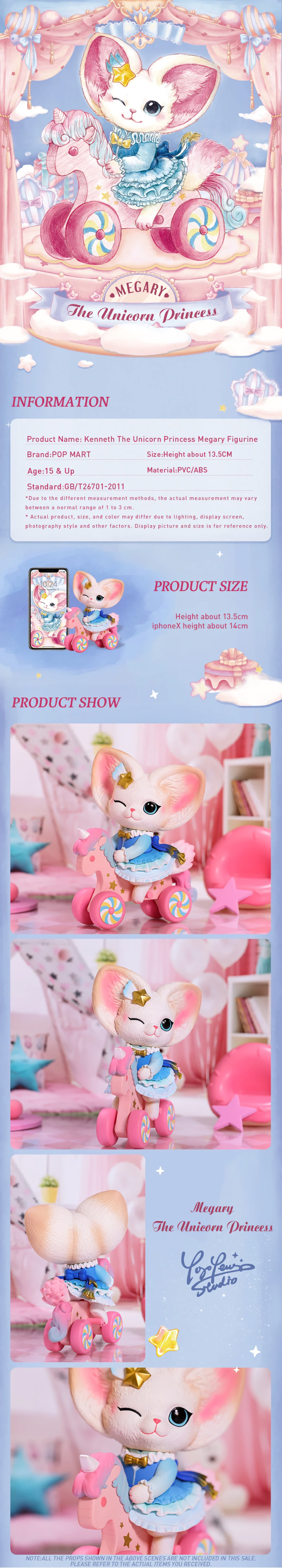 Material: PVC/ABS  Size: Height about 13.5cm  Age: 15&up