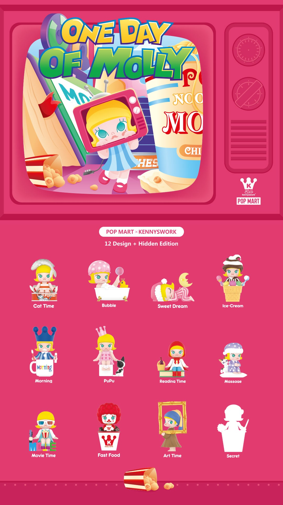 「PRE-ORDER」POP MART X Molly One Day of Molly Blind Box Toys