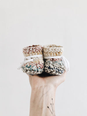DIY Crochet Kit - Chunky Booties - Infant - Femme Wares Niagara Local Small Business