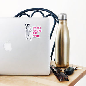 MF Girl Power Sticker - Femme Wares Niagara Local Small Business