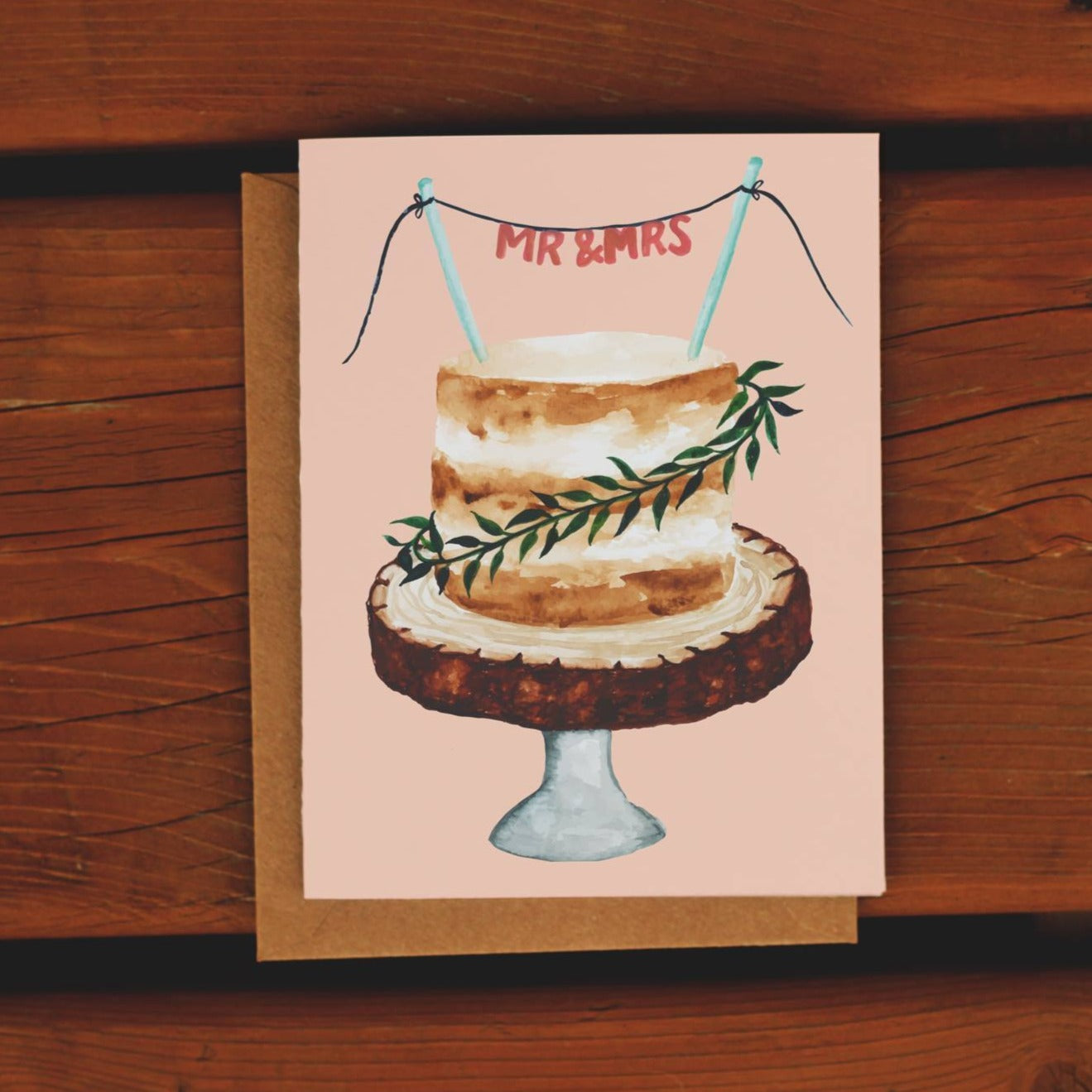 Mr & Mrs Greeting Card - Femme Wares Niagara Local Small Business
