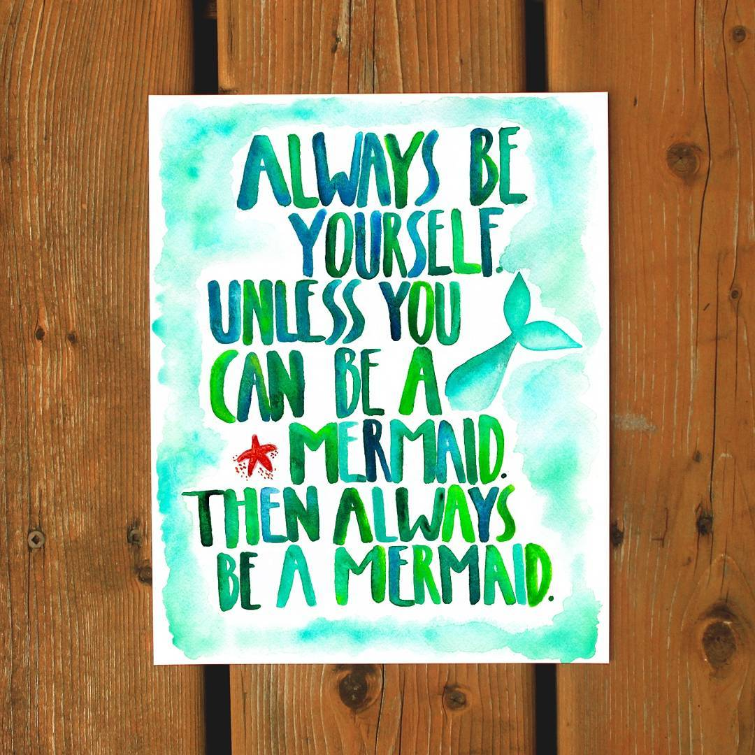 Be a Mermaid Greeting Card - Femme Wares Niagara Local Small Business