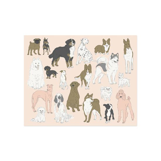 Dogs Art Print - Femme Wares Niagara Local Small Business