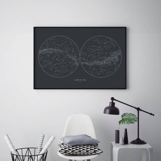 Sky Hand-Drawn Map - Femme Wares Niagara Local Small Business