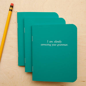 I'm silently correcting your grammar - Notebook - Femme Wares Niagara Local Small Business