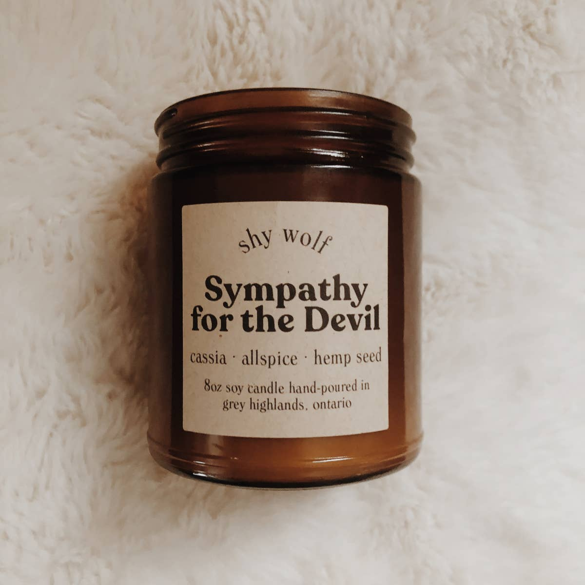 Sympathy for the Devil - Rock & Roll Soy Candle - Femme Wares Niagara Local Small Business
