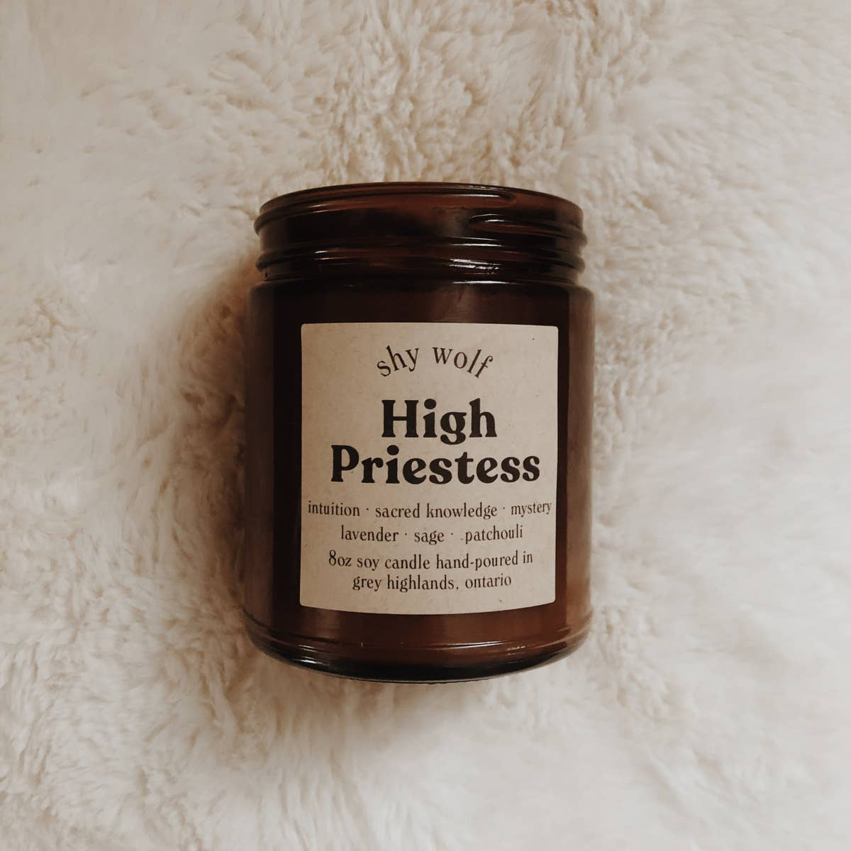 High Priestess - Tarot Cards Soy Candle - Femme Wares Niagara Local Small Business