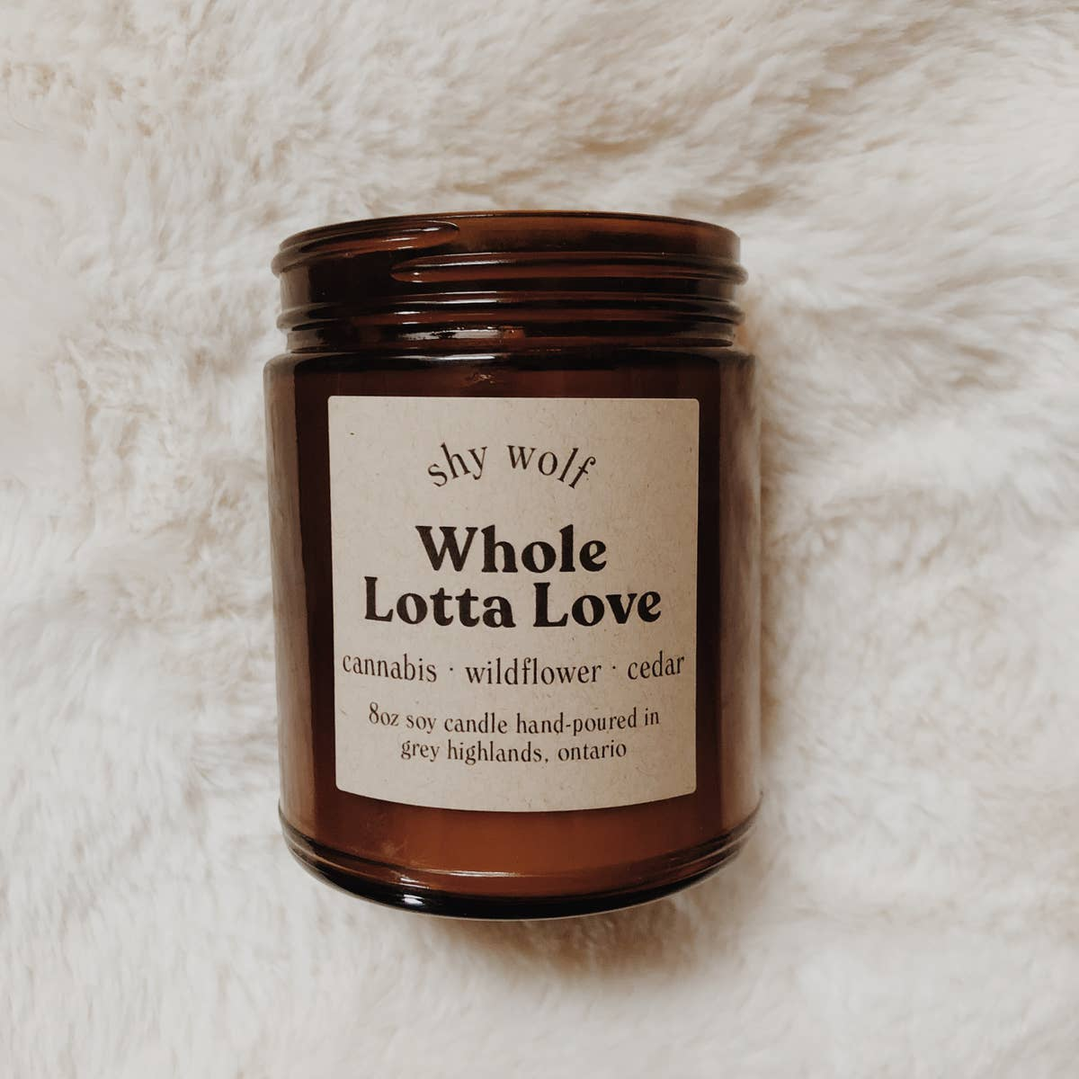 Whole Lotta Love - Rock & Roll Soy Candle - Femme Wares Niagara Local Small Business