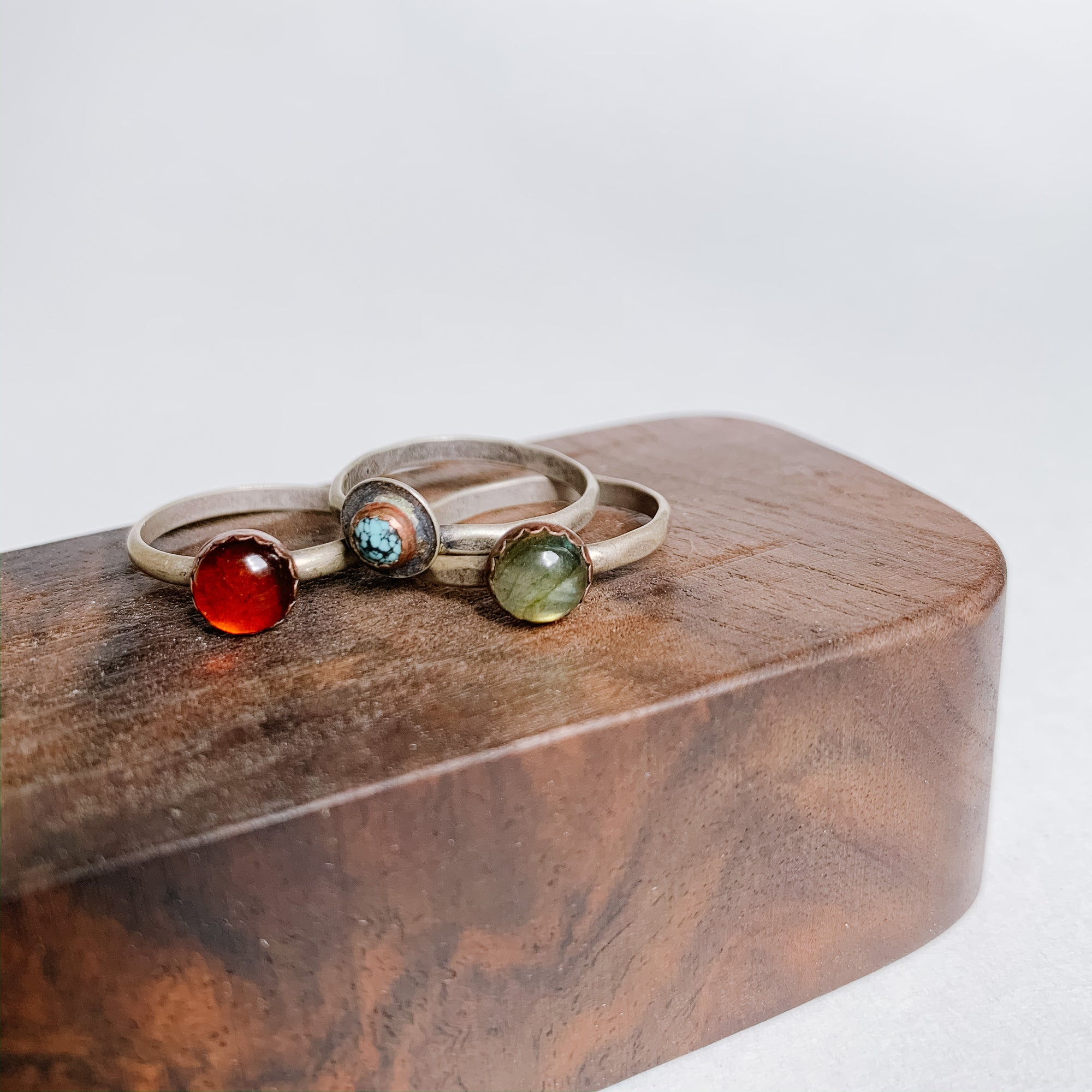 Labradorite Boho Stacking Ring - size 6 - Femme Wares Niagara Local Small Business
