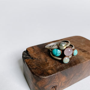 Opal Boho Stacking Ring - size 7 - Femme Wares Niagara Local Small Business