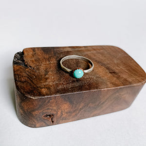 Turquoise Boho Stacking Ring - size 7 - Femme Wares Niagara Local Small Business