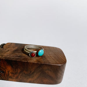 Turquoise Boho Stacking Ring - size 10 - Femme Wares Niagara Local Small Business
