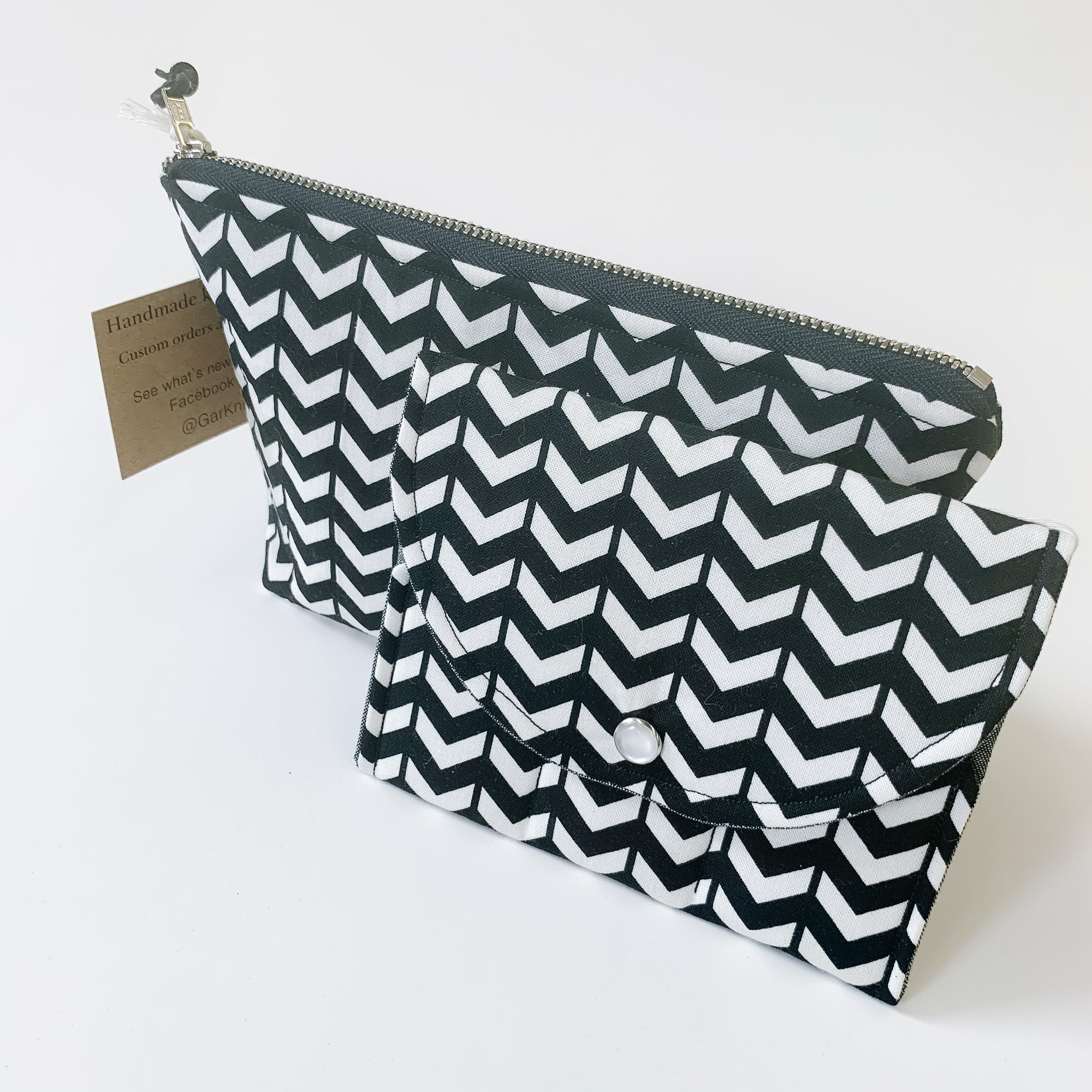 Black & White - Essential Oil Roller Wallet