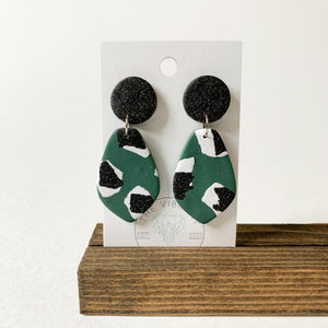 Polymer Clay Earring - Jungle Twinkle Petal - Femme Wares Niagara Local Small Business