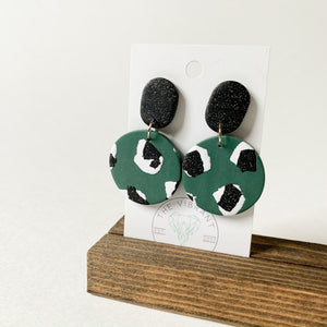Polymer Clay Earring - Jungle Twinkle Circle - Femme Wares Niagara Local Small Business