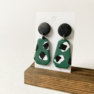 Polymer Clay Earring - Jungle Twinkle Geometric - Femme Wares Niagara Local Small Business