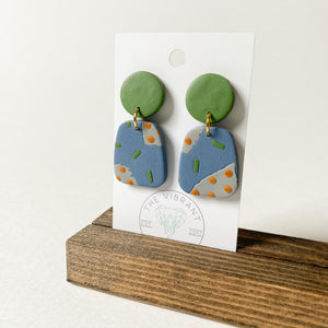 Polymer Clay Earring - Olive Branch Small - Femme Wares Niagara Local Small Business