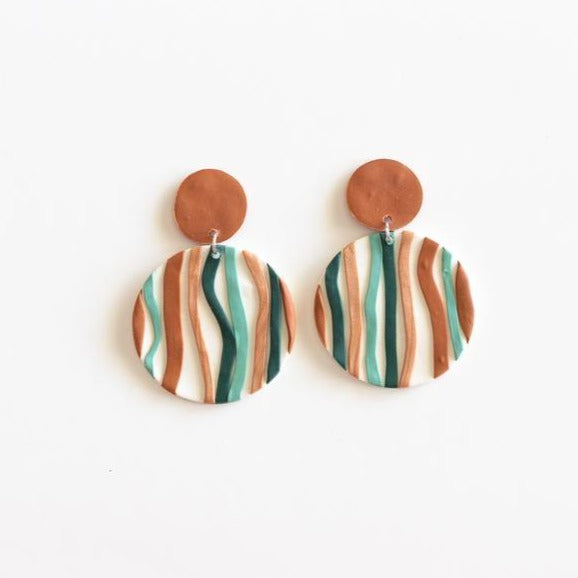 Lakefield Statement - Polymer Clay Earrings - Femme Wares Niagara Local Small Business