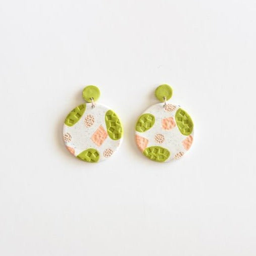 Limegreen Statement - Polymer Clay Earrings - Femme Wares Niagara Local Small Business