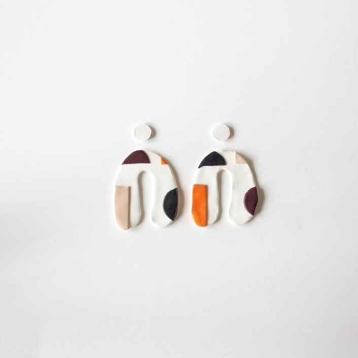 Vibe Statement - Polymer Clay Earrings - Femme Wares Niagara Local Small Business