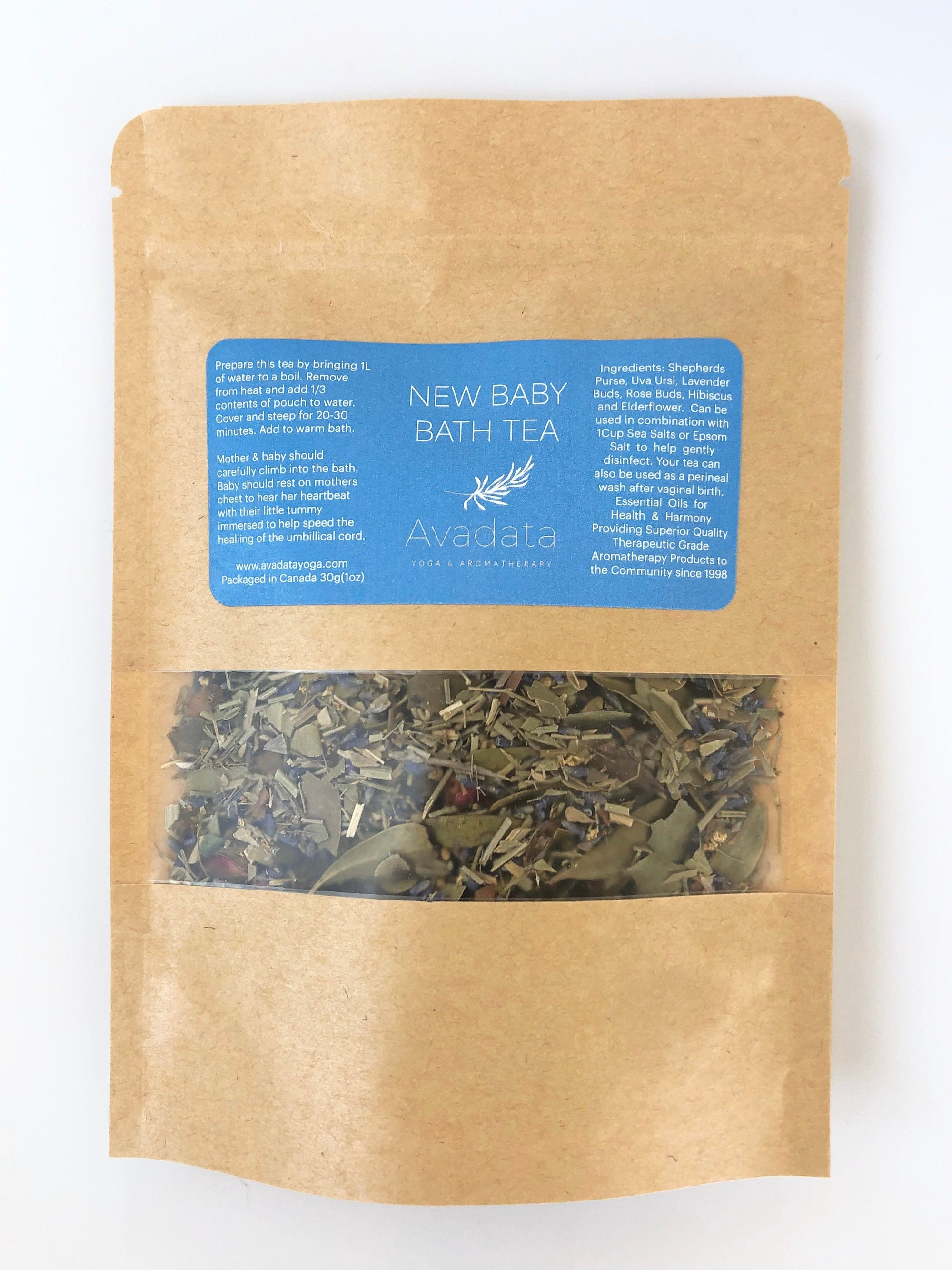 New Baby Post Partum Herbal Bath Tea - Femme Wares Niagara Local Small Business