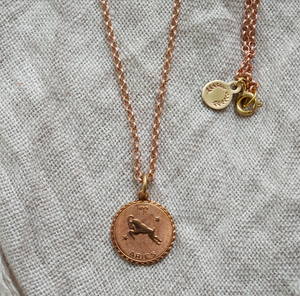 Vintage Zodiac Horoscope Necklace - Femme Wares Niagara Local Small Business
