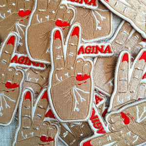 Vagina Peace Iron On Patch