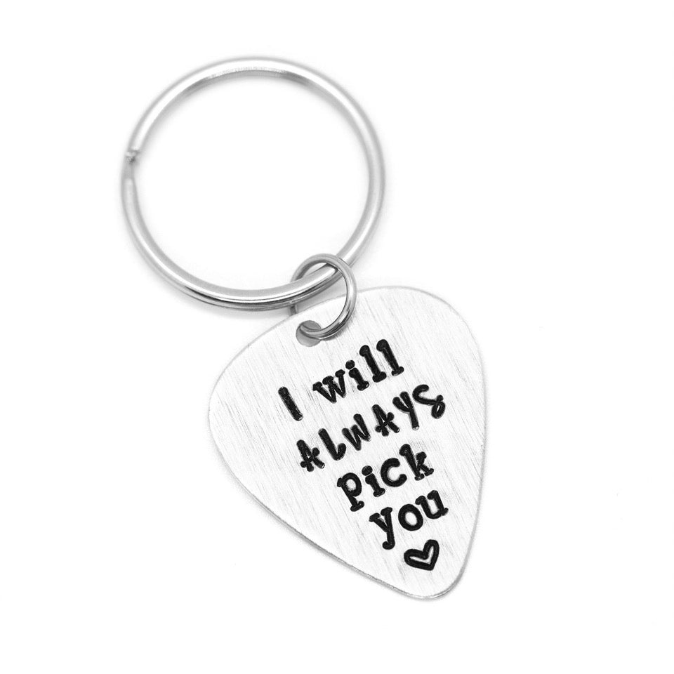I Will Always Pick You - Hand-Stamped Keychain - Femme Wares Niagara Local Small Business