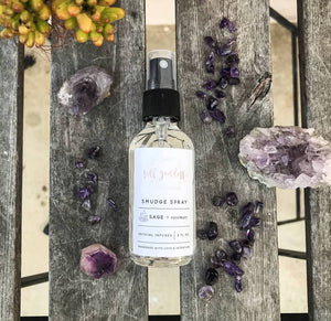 Sage and Rosemary Smudge Spray - Femme Wares Niagara Local Small Business