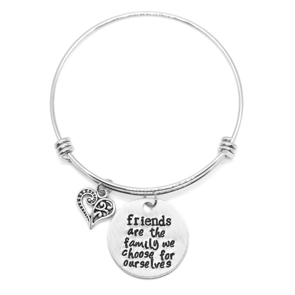 Friends - Hand-Stamped Bangle Bracelet - Femme Wares Niagara Local Small Business