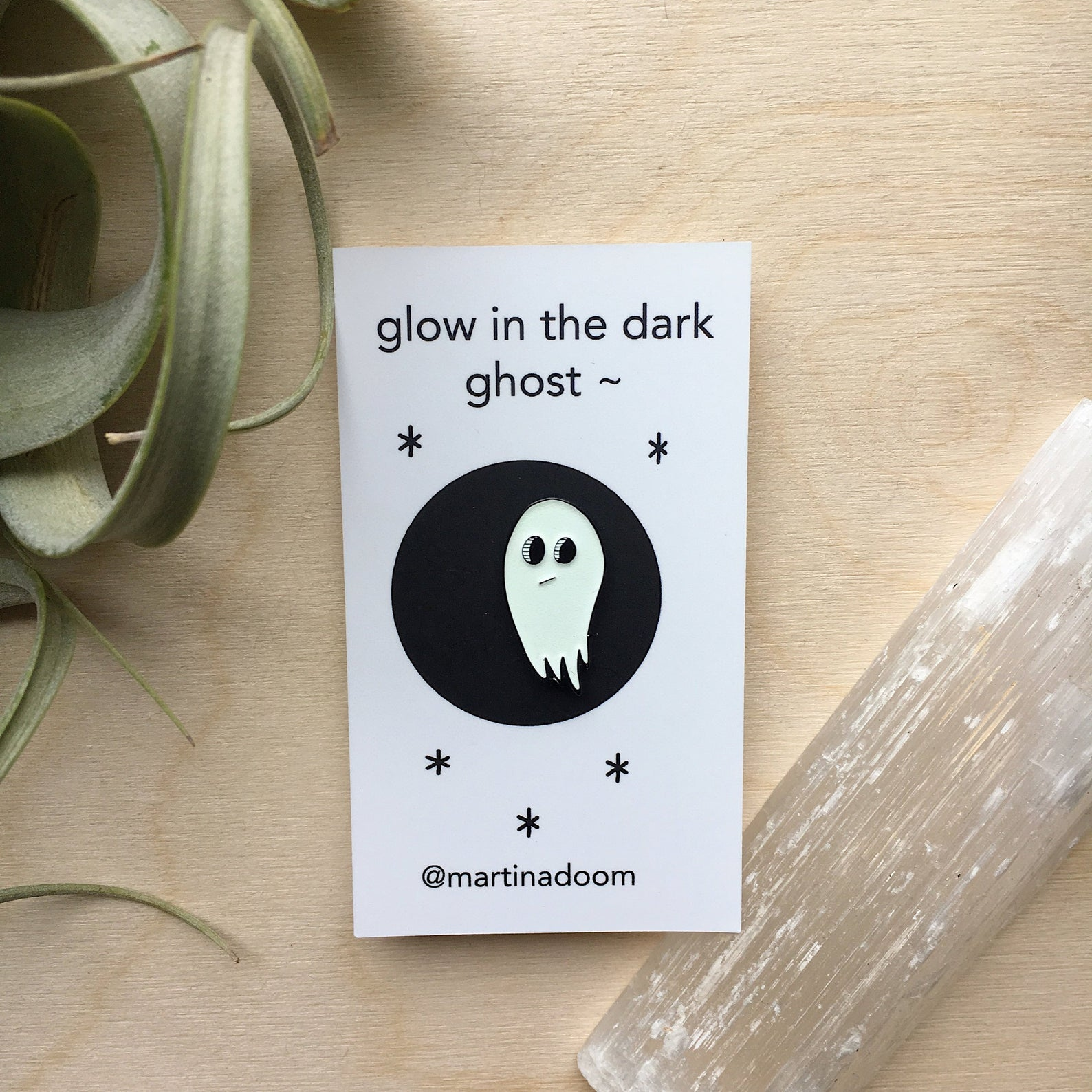 Glow In the Dark Ghost ~ Enamel Pin - Femme Wares Niagara Local Small Business
