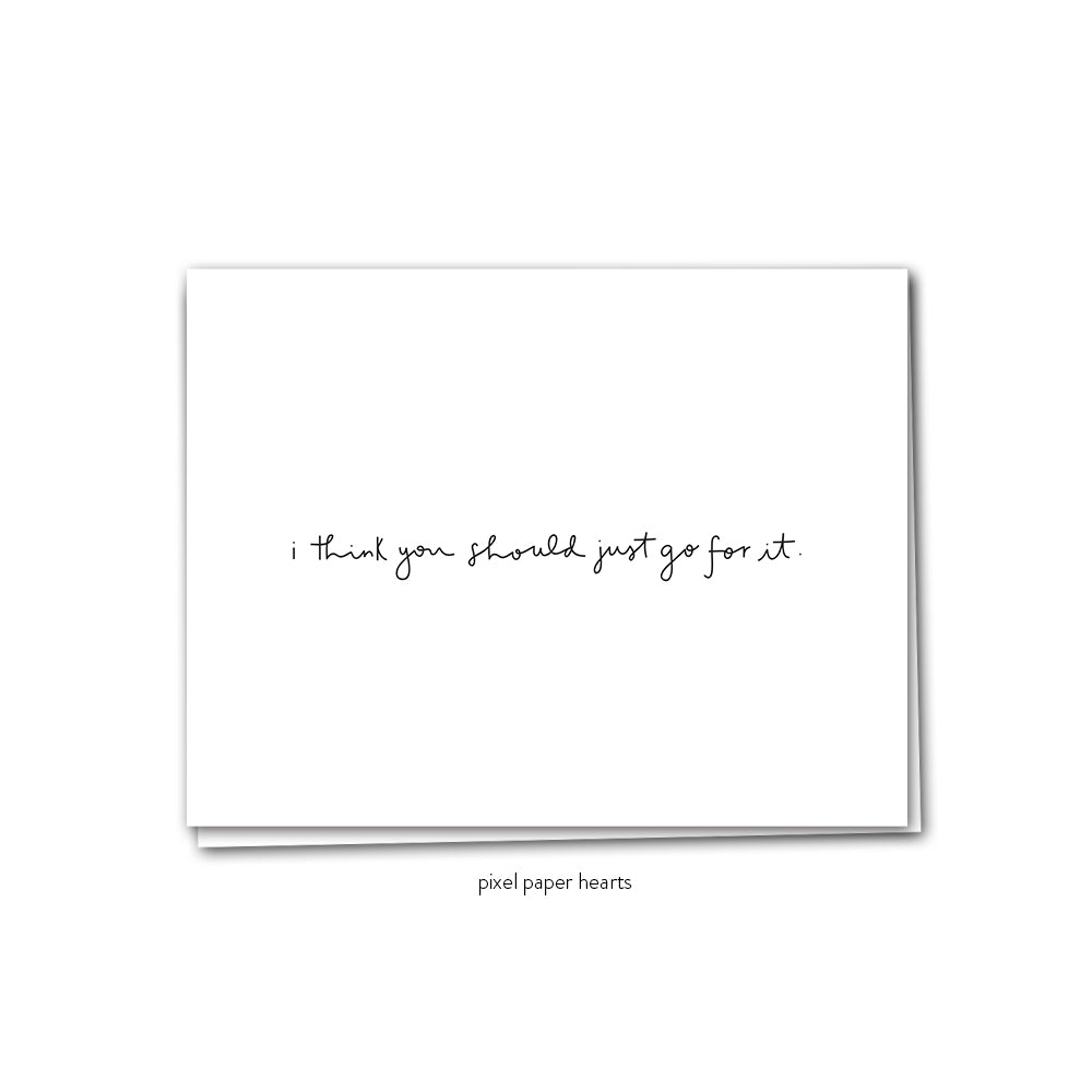 Go For It Greeting Card - Femme Wares Niagara Local Small Business