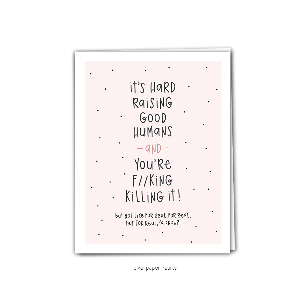 Killing It Greeting Card - Femme Wares Niagara Local Small Business