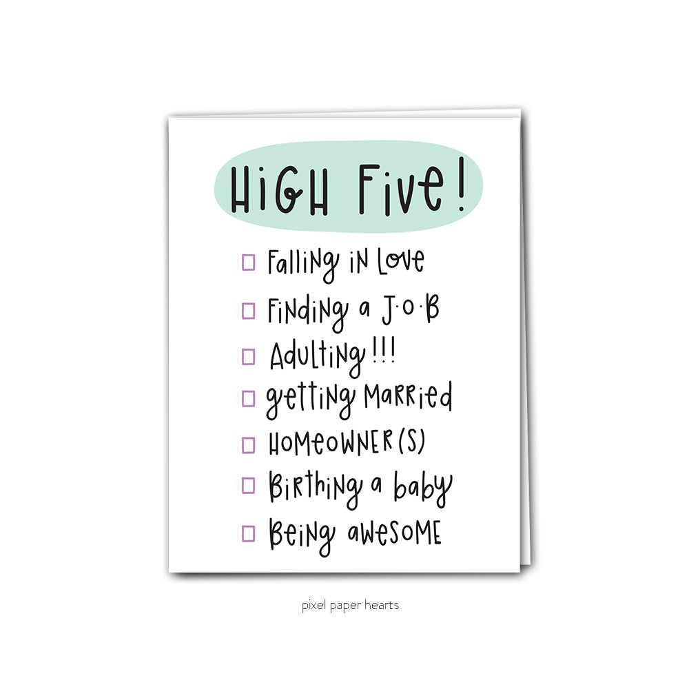 High Five! Greeting Card - Femme Wares Niagara Local Small Business