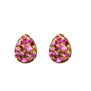 Dalia Teardrop Druzy Stud Earrings - Femme Wares Niagara Local Small Business