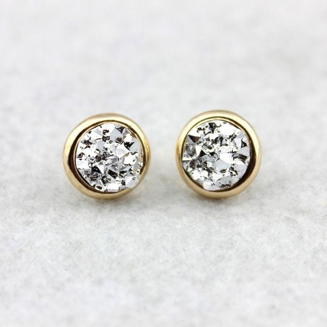 Daria Druzy Stud Earrings - Femme Wares Niagara Local Small Business