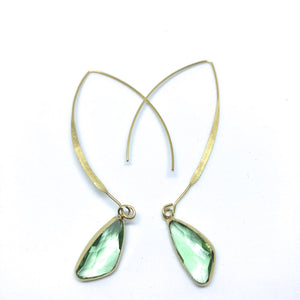Elise Arc Crystal Earrings - Femme Wares Niagara Local Small Business