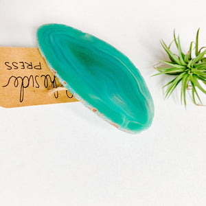 Agate Phone Grip - Large Green Blue - Femme Wares Niagara Local Small Business