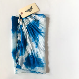 Indigo Dyed Silk Scarf - Femme Wares Niagara Local Small Business