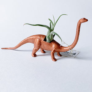 Copper Dinosaur Air Planter - Long Neck - Femme Wares Niagara Local Small Business