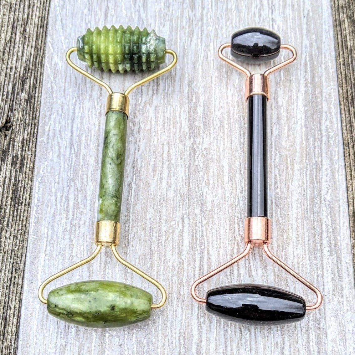 Jade Stone Facial Roller - Femme Wares Niagara Local Small Business