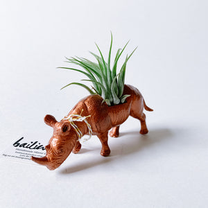 Copper Animal Air Planter - Rhinoceroses - Femme Wares Niagara Local Small Business