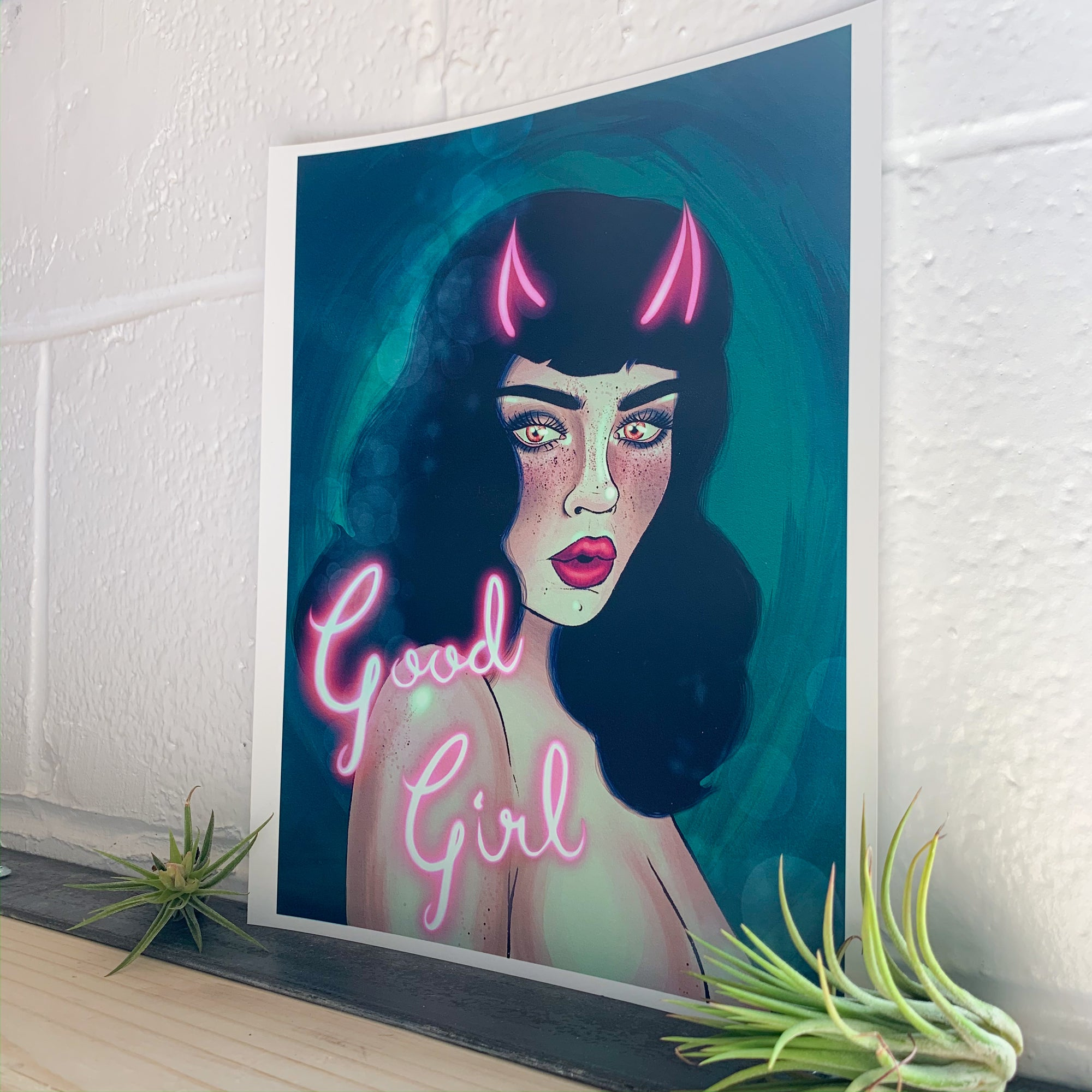 Good Girl Art Print - Femme Wares Niagara Local Small Business