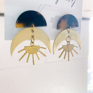 Sun & Moon Earrings - Femme Wares Niagara Local Small Business