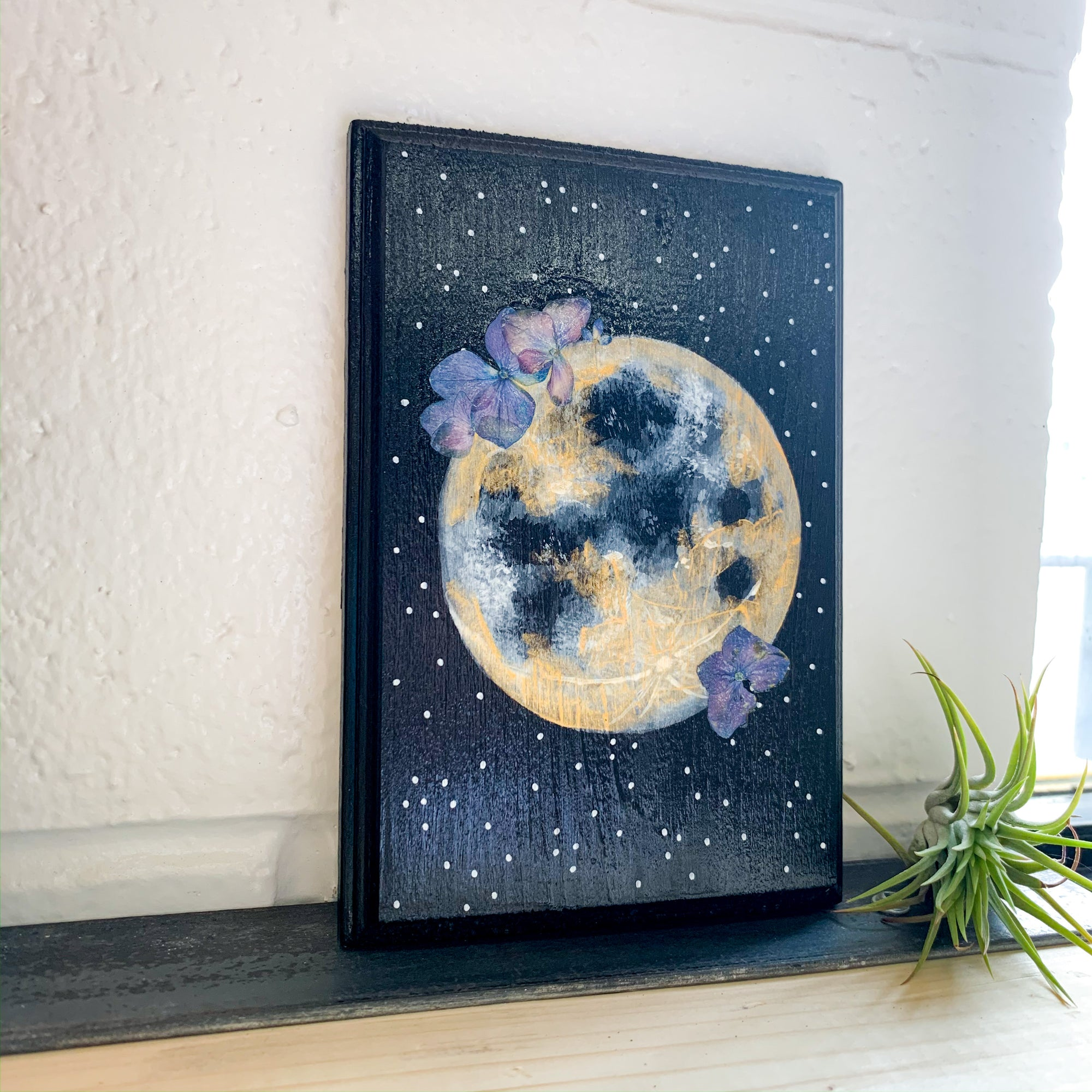 Lunar Art - Floral Art Painting - Femme Wares Niagara Local Small Business