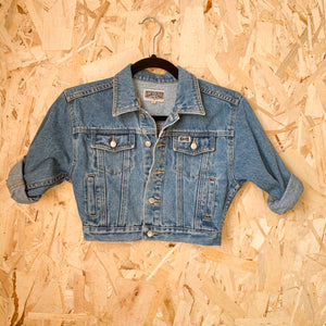 Upcycled Handstiched Kids Jean Jacket - Femme Wares Niagara Local Small Business