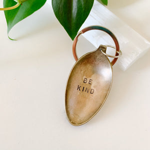 Be Kind - Vintage Spoon Hand-stamped Keychain - Femme Wares Niagara Local Small Business