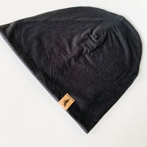 Bamboo Beanie - Black - Femme Wares Niagara Local Small Business