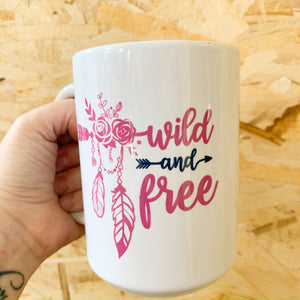 Wild and Free Mug - Femme Wares Niagara Local Small Business