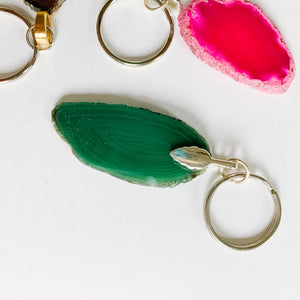 Agate Keychains - Femme Wares Niagara Local Small Business